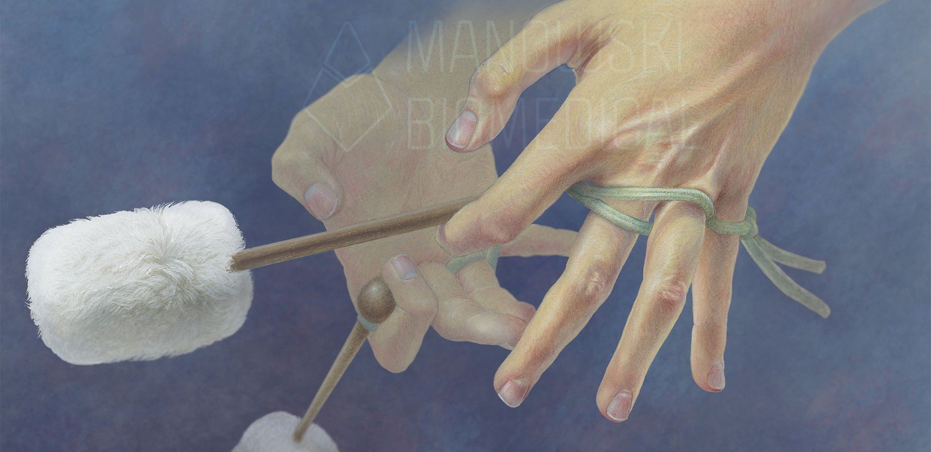Hands with Tenor Drum Mallets