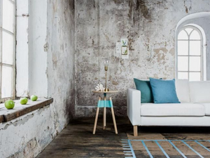 distressed industrial wall finish