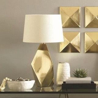 Nate Berkus Gold Lamp
