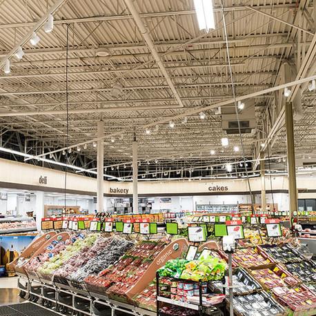 Освещение супермаркетов