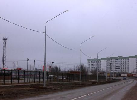 В Волгограде участок трассы А-260 переоборудовали 160 светодиодными светильниками