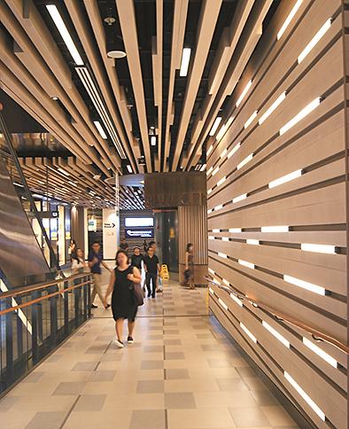 Освещение коридоров офисного здания