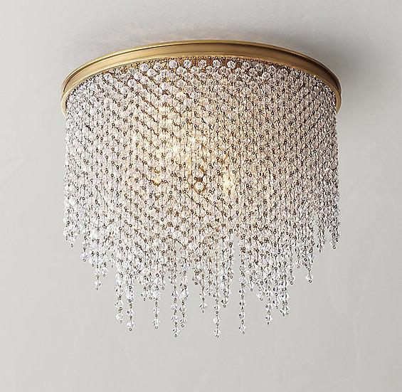 Athena Crystal Flushmount