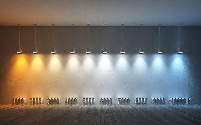 Световые эффекты разной цветовой температуры светильника