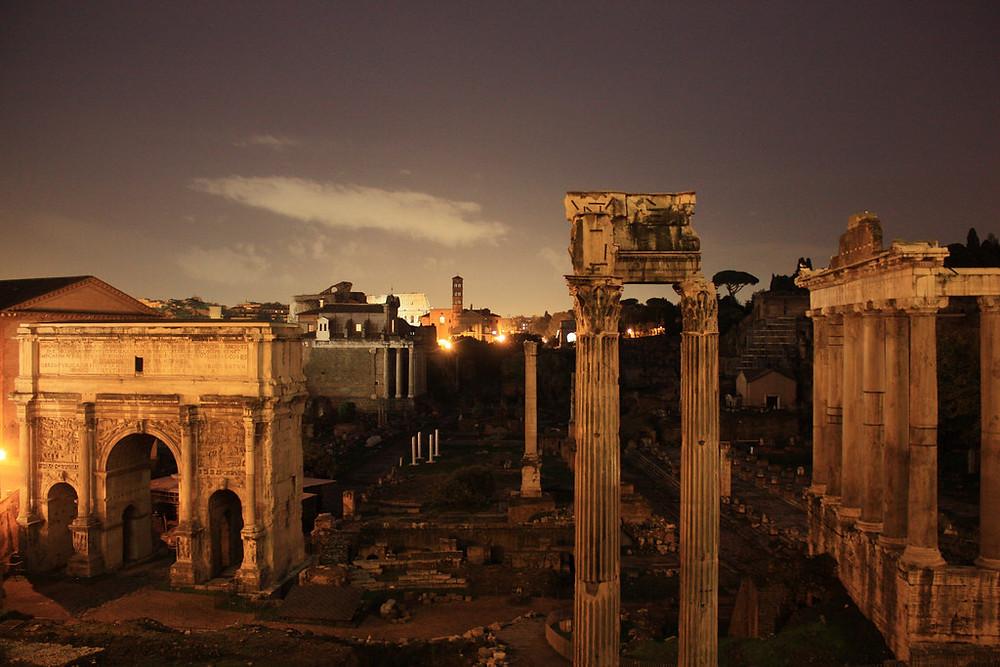 Руины Римского форума будут освещать 450 светодиодных прожекторов