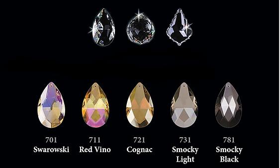 Цвет и форма хрусталя Bohemia Ivele Crystal