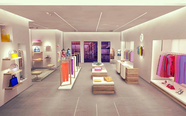 Общее освещение для магазина одежды