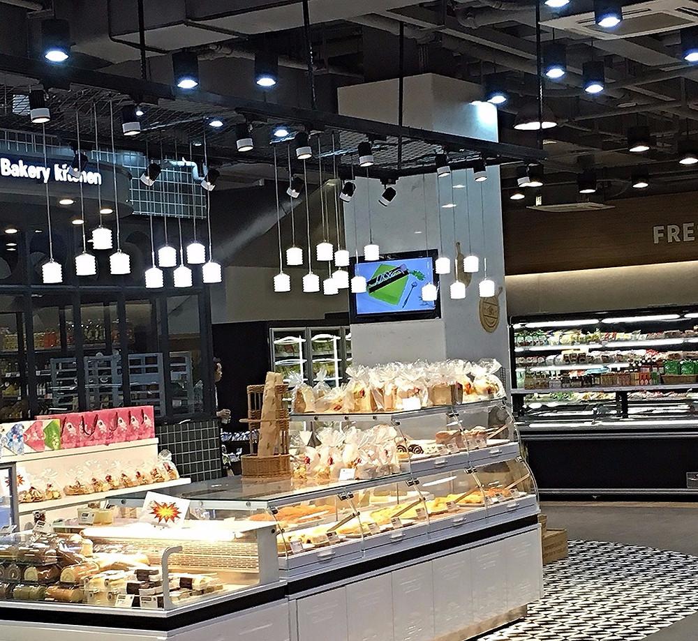 Verluisant Lighting design for Community Plaza Supermarket Bakery