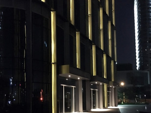 Original lighting solutions for Office Building Plaza, Guangzhou