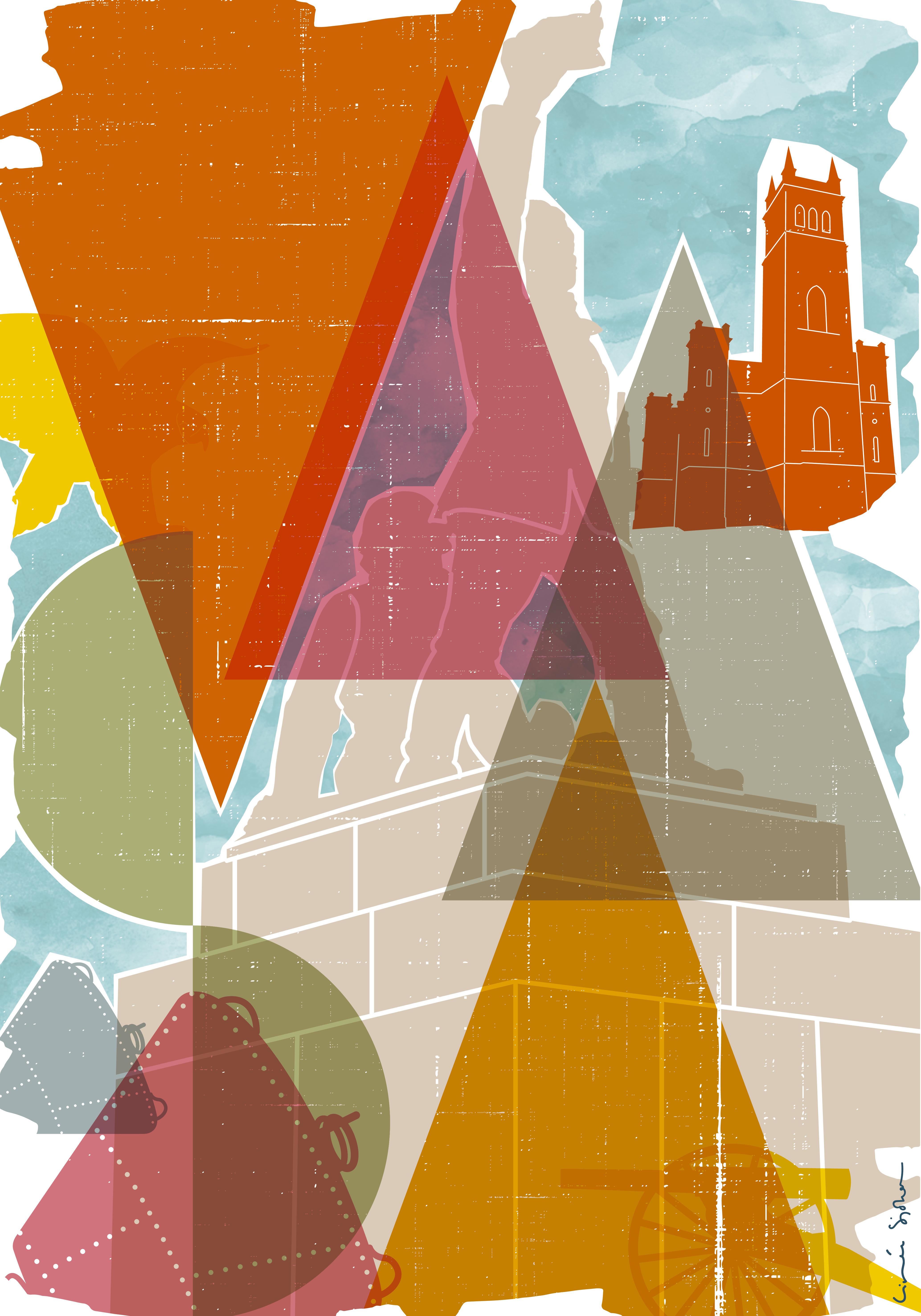 Vaasa poster illustration