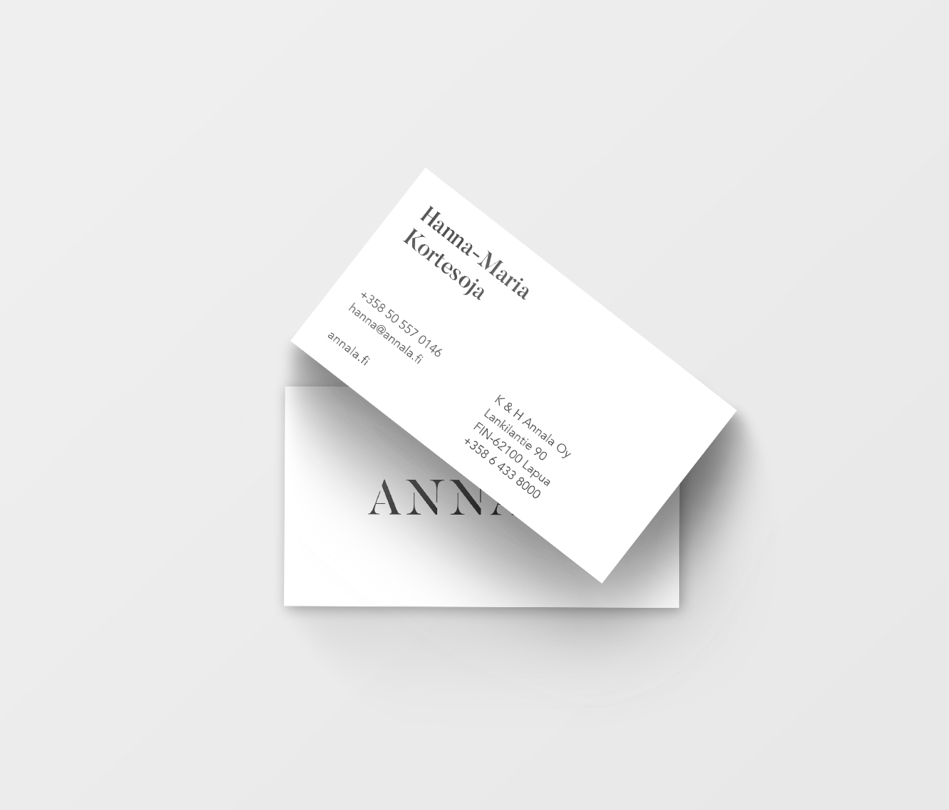Business cards for Annala