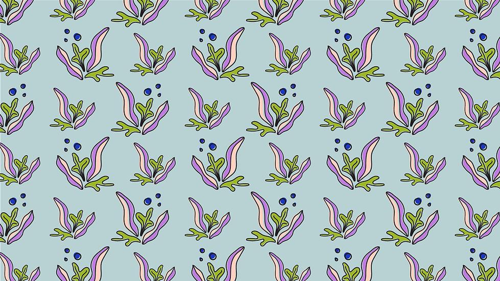 ALGAE print pattern
