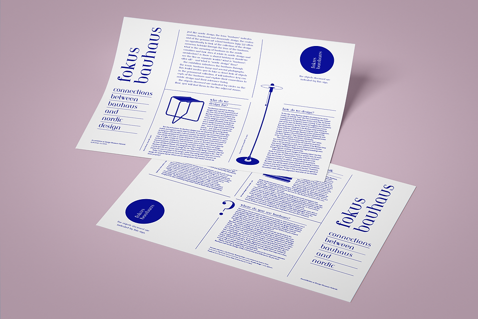 Fokus Bauhaus double sided handout