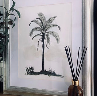 Classical Palm in Silver Frame.JPG