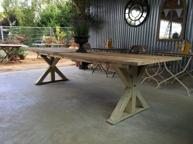 Cross Leg Refectory Table