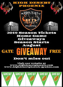 Season Tickets information for HDP 2019