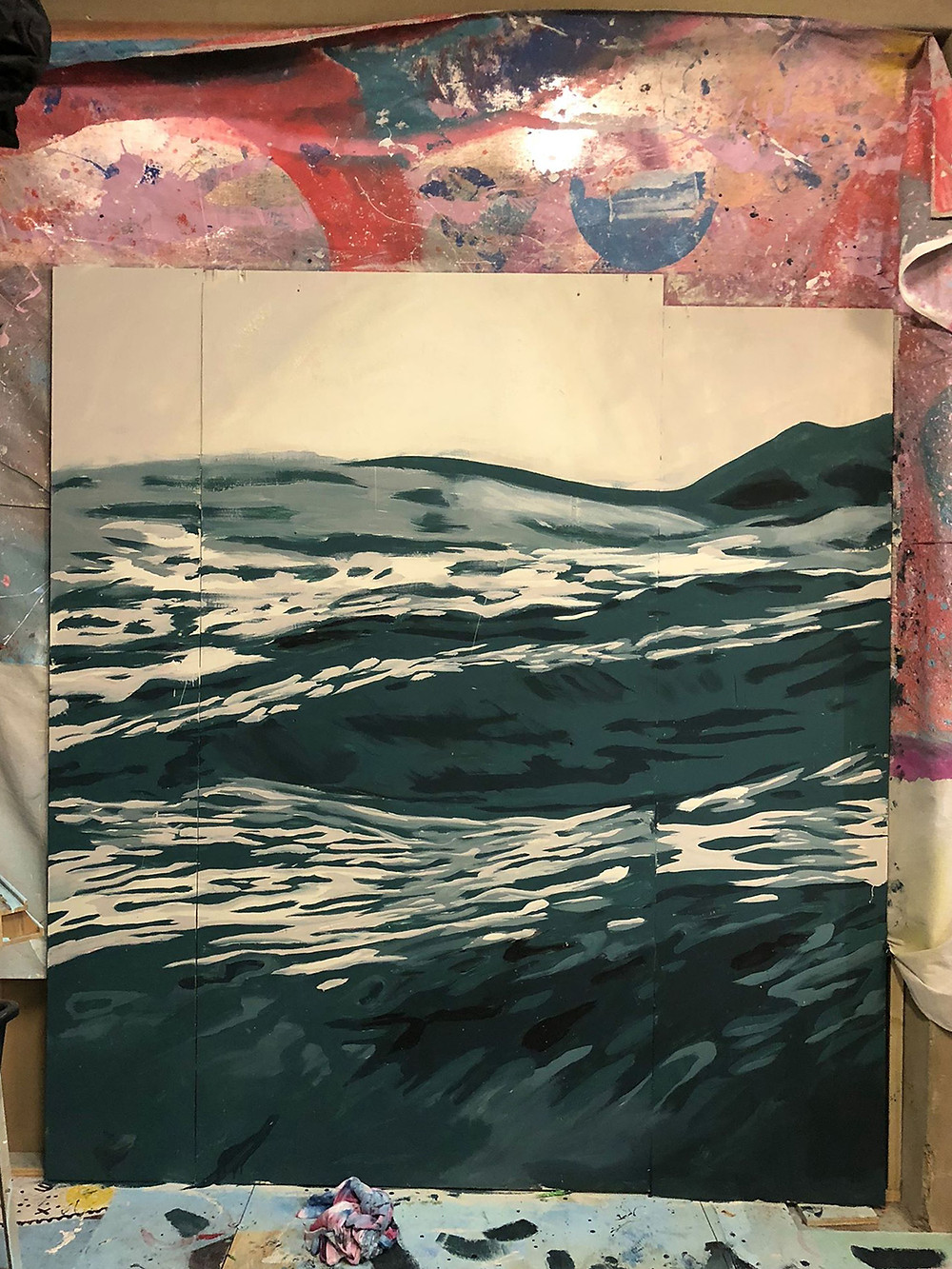 Beastly Sea studio study detail by Dave Court.
