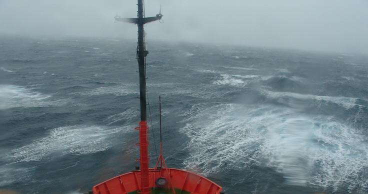BIO Hespérides at a storm