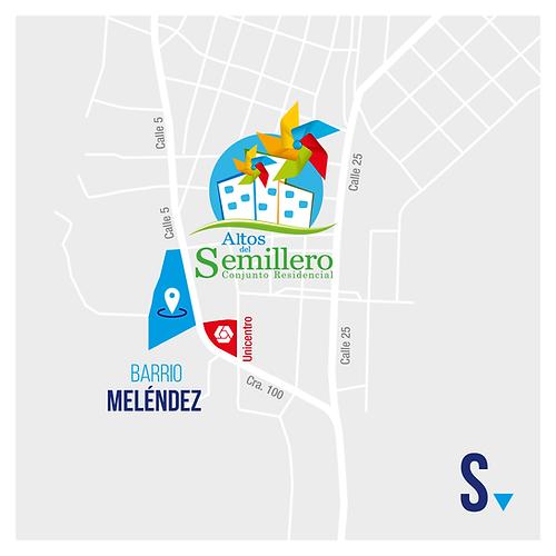 Mapa ubicación Altos del Semillero