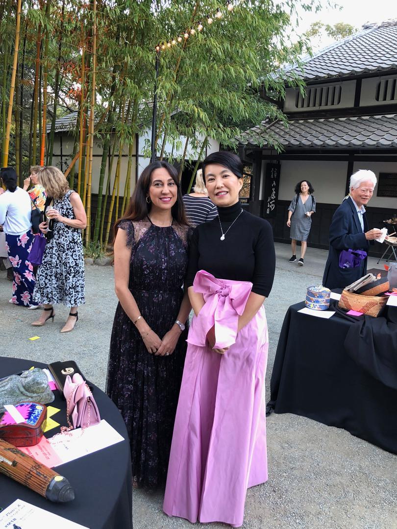 Renee with Ms. Fang Pei at Hakone Gardens