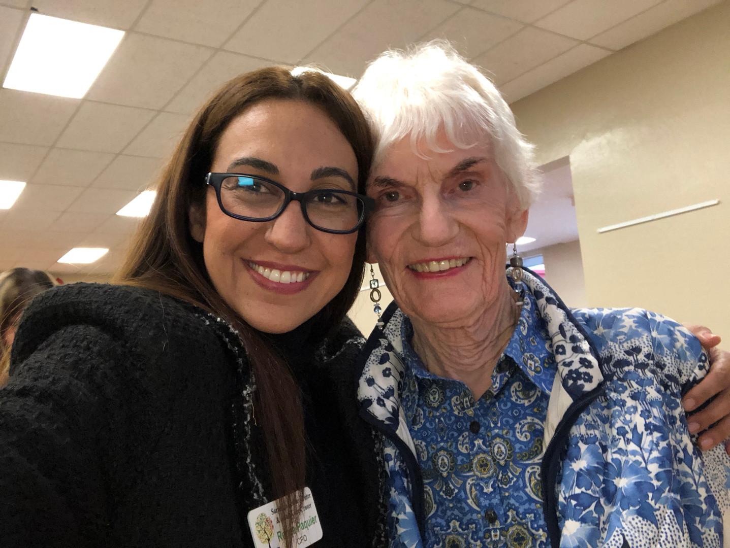 Renee with fellow Saratoga Area Senior C