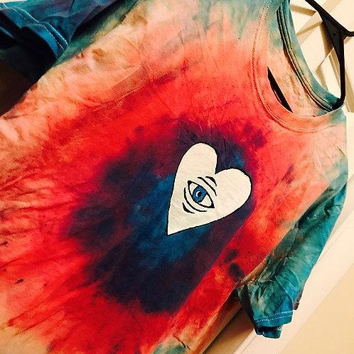 Tie Dye Heart Logo