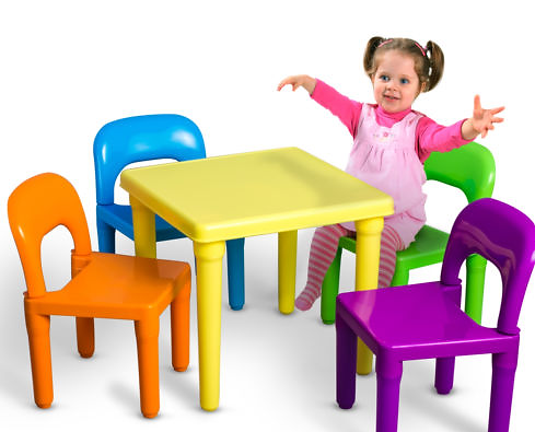 Kids Plastic Table And Chairs Set