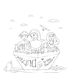 Colouring In - MMK - Be Kind