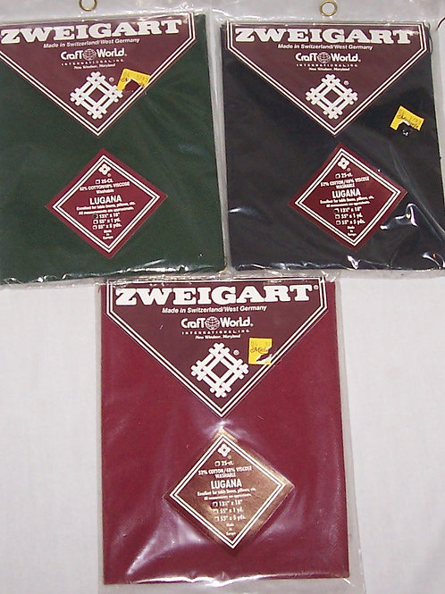 "3 Zweigart 25CT Lugana 13-1/2""X 18"" Cross Stitch Fabric"