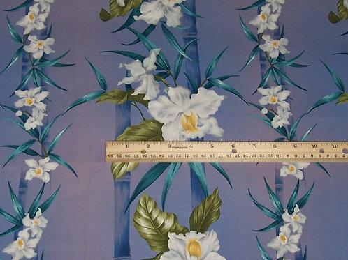 Trendtex Hawaiian Lavender Floral Z0022 3/4 Yard