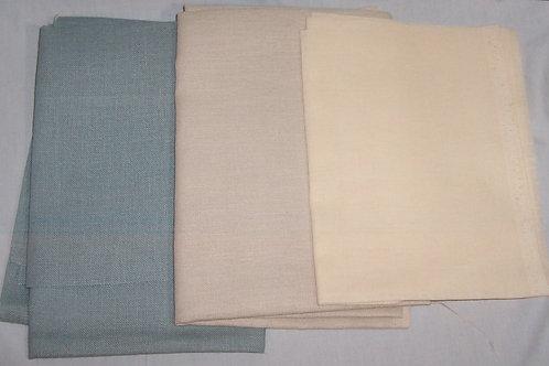"Lot of 3 - 18"" X 27"" 27"" X 36"" 28"" X 36"" Cross Stitch Fabric Linen"