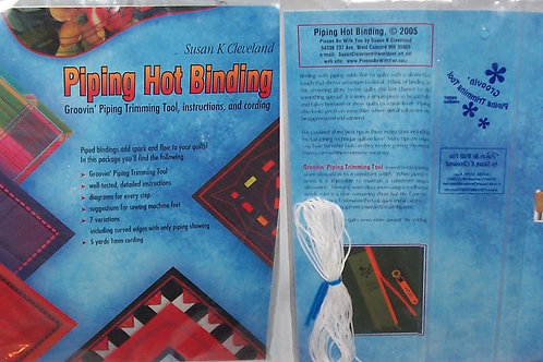 Piping Hot Binding Groovin' Piping Trimming Tool, Instructions and Cording