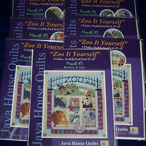"""Zoo It Yourself A 7 Pattern Month by Month Quilt 57""""X63"""""""