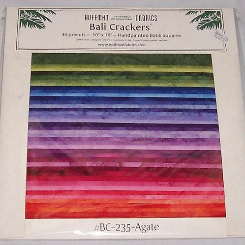 "Hoffman Batik Bali Crackers 235-Agate 40 Pre-Cut Squares 10""X10"""