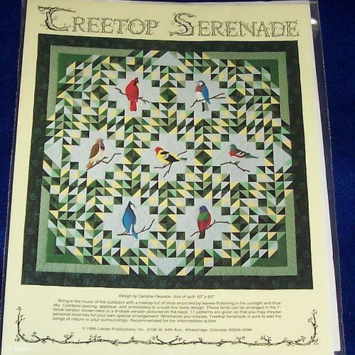 "Treetop Serenade Caroline Reardon Pattern 62""X62"""