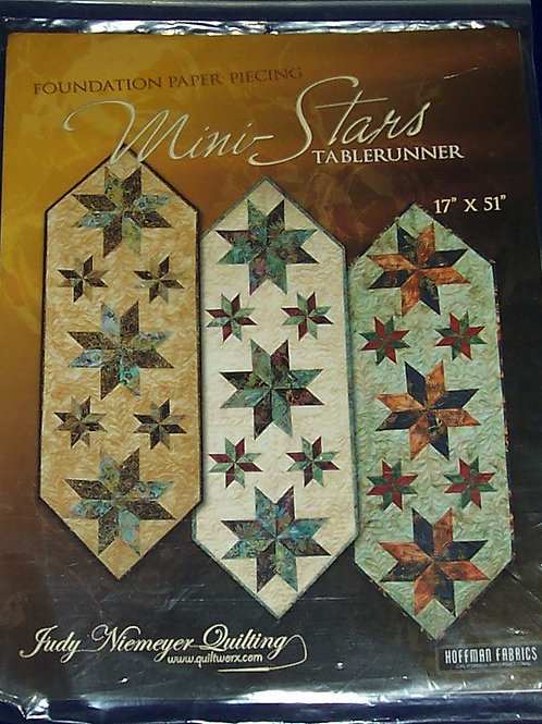 "Mini-Stars Judy Niemeyer Pattern Tablerunner 17""X51"""
