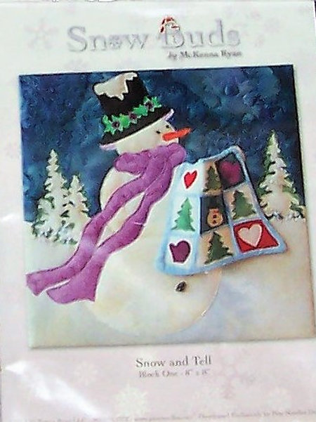 "Snow and Tell Snow Buds McKenna Ryan Pattern Block 1 ~ 8""X8"""