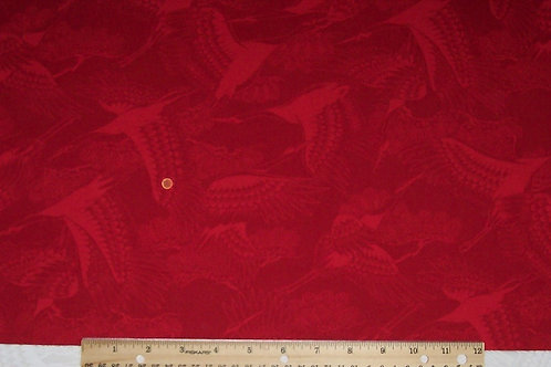 Kona Bay Red on Red with Birds 1 Yard Fabric