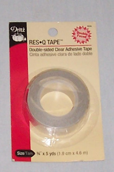 """Dritz Res Q Double Sided Clear Adhesive Tape 3/4"""" X 5yds"""