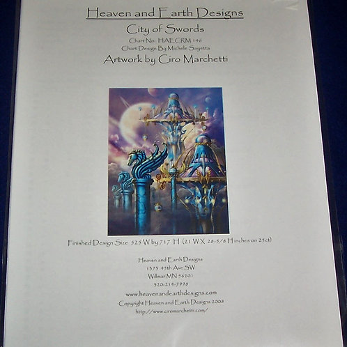 Cross Stitch Pattern Heaven and Earth Designs City of Swords Pattern & Charts