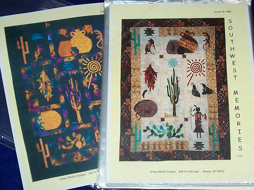 "Southwest Memories Arlene Walsh Patterns 56""X76"""