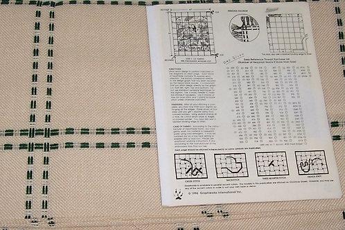 Graphworks Rain Forest  Afghan Kit 1-1/3 Yards Afghan Cut + Pattern