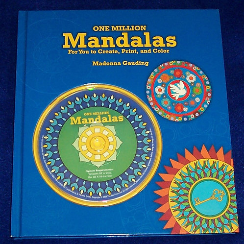 One Million Mandalas For You Create, Print and Color Book w/CD Madonna Gauding