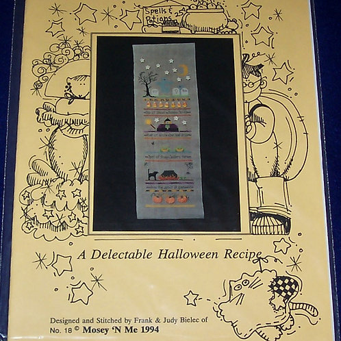 Cross Stitch Pattern Mosey 'N Me A Delectable Halloween Recipe Stitch Chart