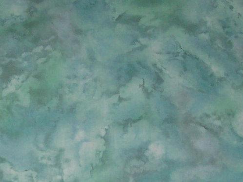 Moda Marble Mate Mottled Blue-Green 1 Yard Fabric