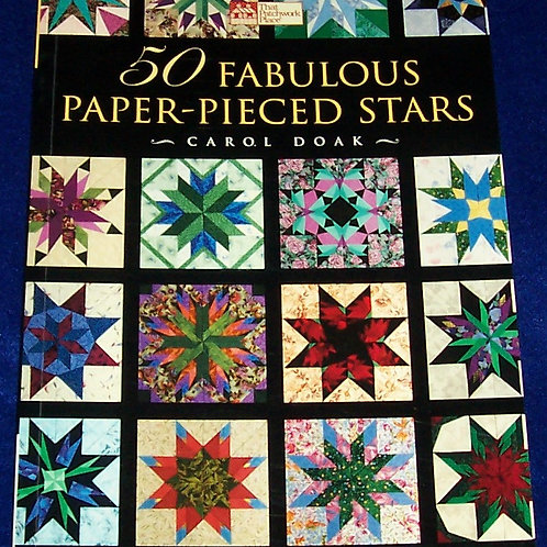 50 Fabulous Paper Pieced Stars CD included Carol Doak