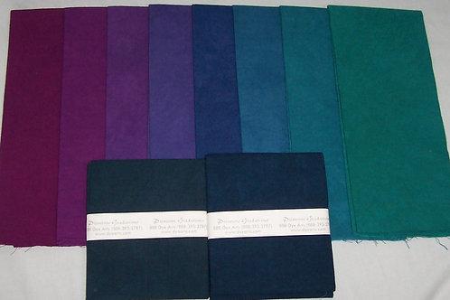Dye Arts Primrose Graduations 9 Fat Quarters and One Half Yard Piece