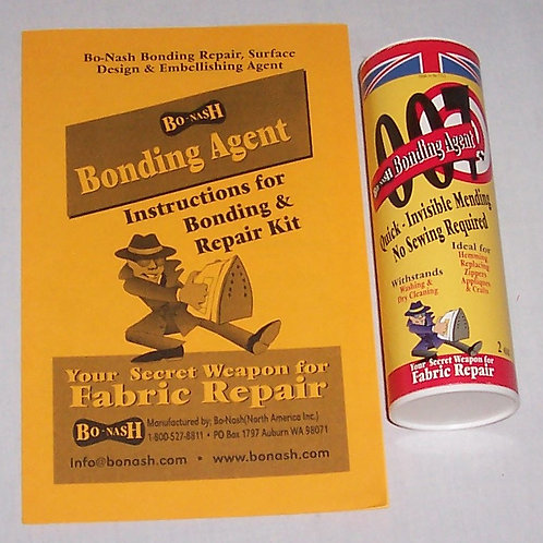 Bo-Nash 007 Bonding Agent Fabric Repair 2 Oz + 10 Iron Clean Sheets