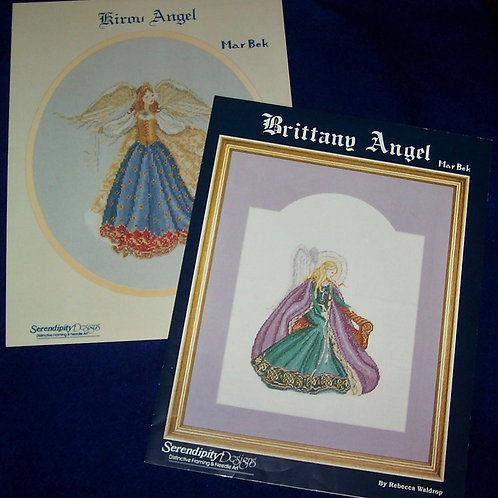 Cross Stitch Pattern Serendipity Designs Brittany Angel + Kirov Angel Mar Bek