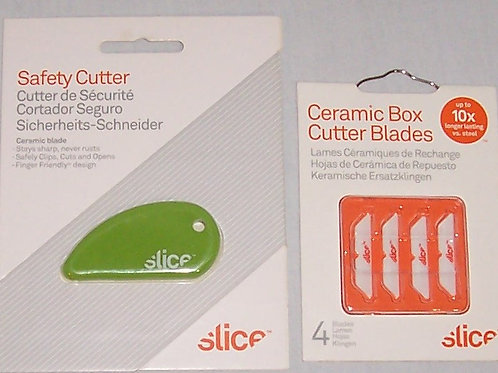 Slice Safety Cutter Plus Package of 4 Ceramic Box Cutter Blades